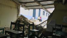Ambiente de colegio cedió debido a constantes lluvias