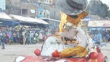 Juliaca: queman muñeco del Ño Carnavalón personificando a Gerald Oropeza