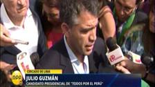 Guzmán minimiza resultados de sondeo que lo ubica en segundo lugar