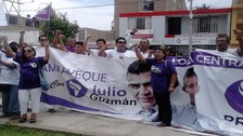 Militantes de Todos Por el Perú realizaron protesta en Jurado Electoral