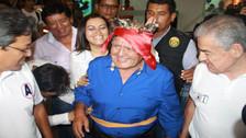 César Acuña llegó a Tarapoto para continuar campaña política
