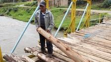 Chupaca: puente Huarisca en peligro de colapso