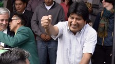 Morales dice que quienes apoyan su reelección están