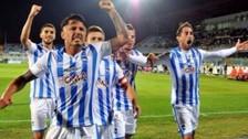 Gianluca Lapadula anotó golazo de tijera en empate 1-1 del Pescara con Vicenza