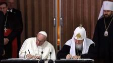 El papa y Kiril firman acuerdo contra la persecución de los cristianos