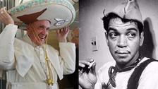 El Papa Francisco y Cantinflas se unen en el inicio de su viaje a México
