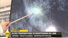 Lima soportará temperaturas de hasta 33 ºC en los próximos días