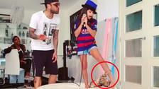 Instagram: gato no soportó que Dani Alves y su hija canten éxito de Nicky Jam