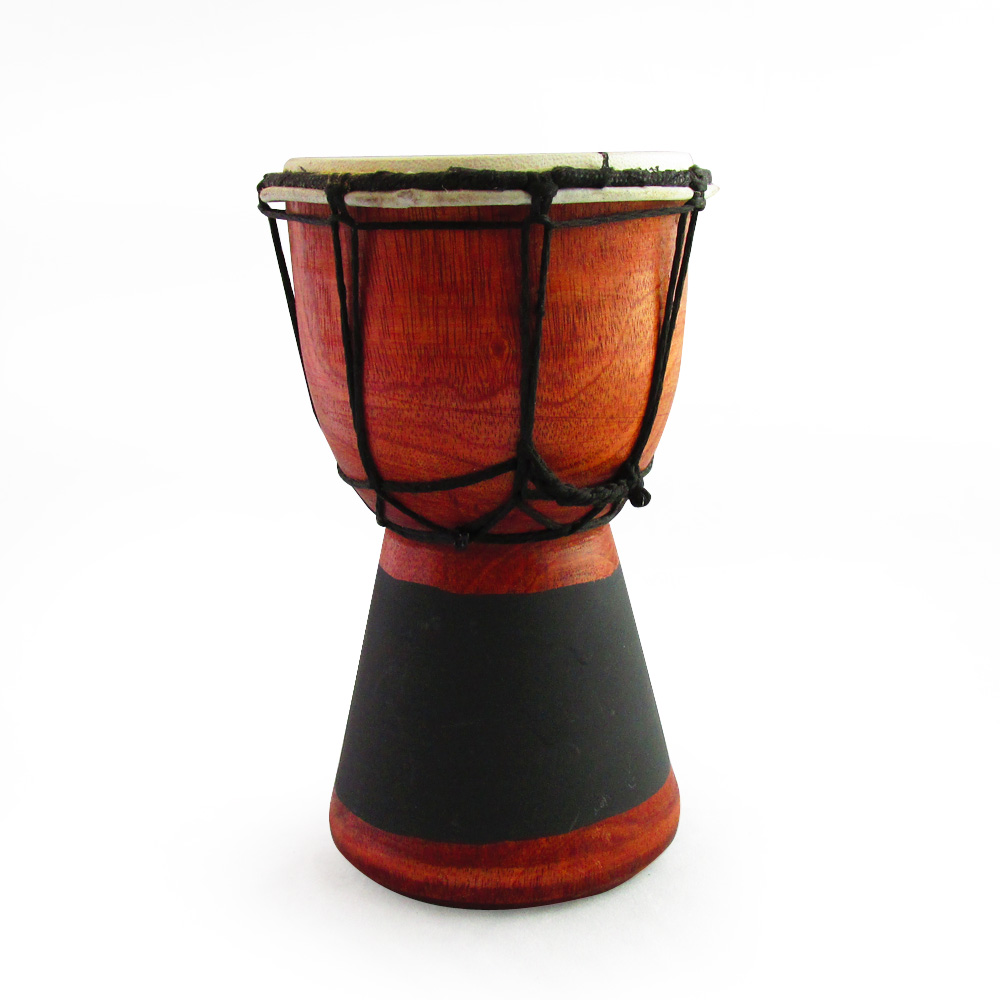 Cm high wooden bongo drum with goat skin a