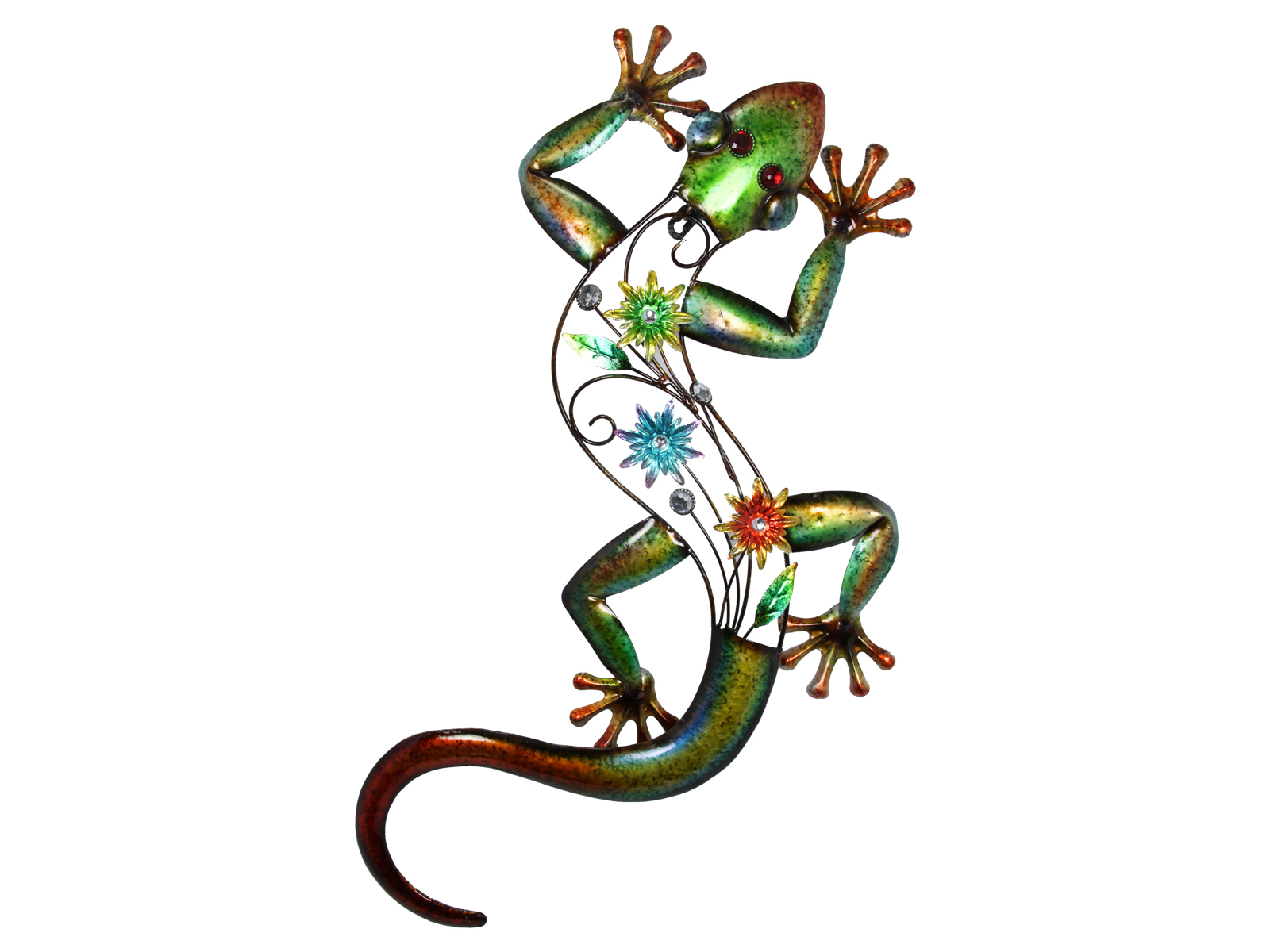 68cm colourful metal lizard gecko wall art piece hanging for Gecko wall art