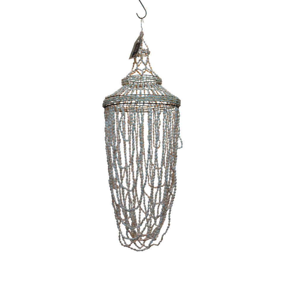 White seashell chandelier oval style vintage mobile - Vintage look mobel ...