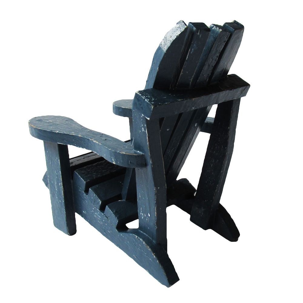 Navy Blue Hamptons Style 19cmH Chair Wooden Chair Great Mobile Phone Holder