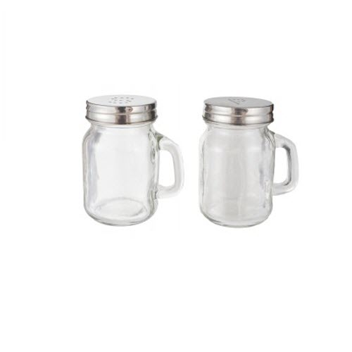 Pair Of 50ml Mini Mason Style Jar Salt And Pepper Shakers