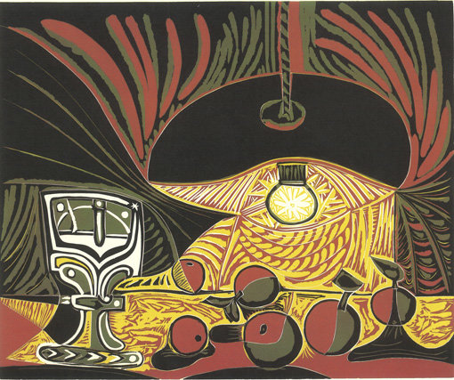 ", 1962. linocut in four colors on Arches paper, 24-1/2"" x 29-5/8"" (62.2 cm x 75.2 cm), sheet size20-7/8"" x 25-1/8"" (53 cm x 63.8 cm), image size."