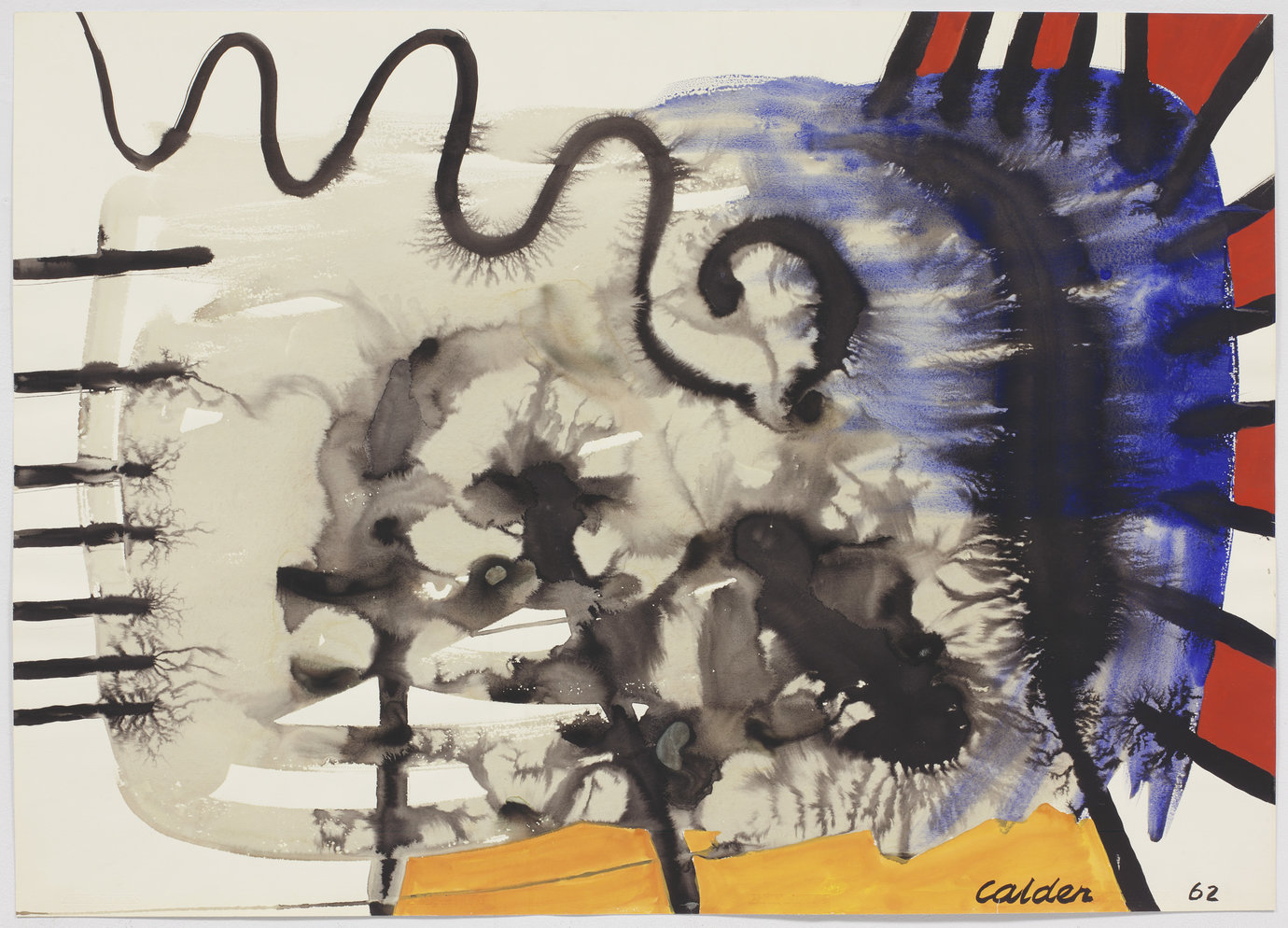 ", 1962. gouache and ink on paper, 29-1/4"" x 41"" (74.3 cm x 104.1 cm)."