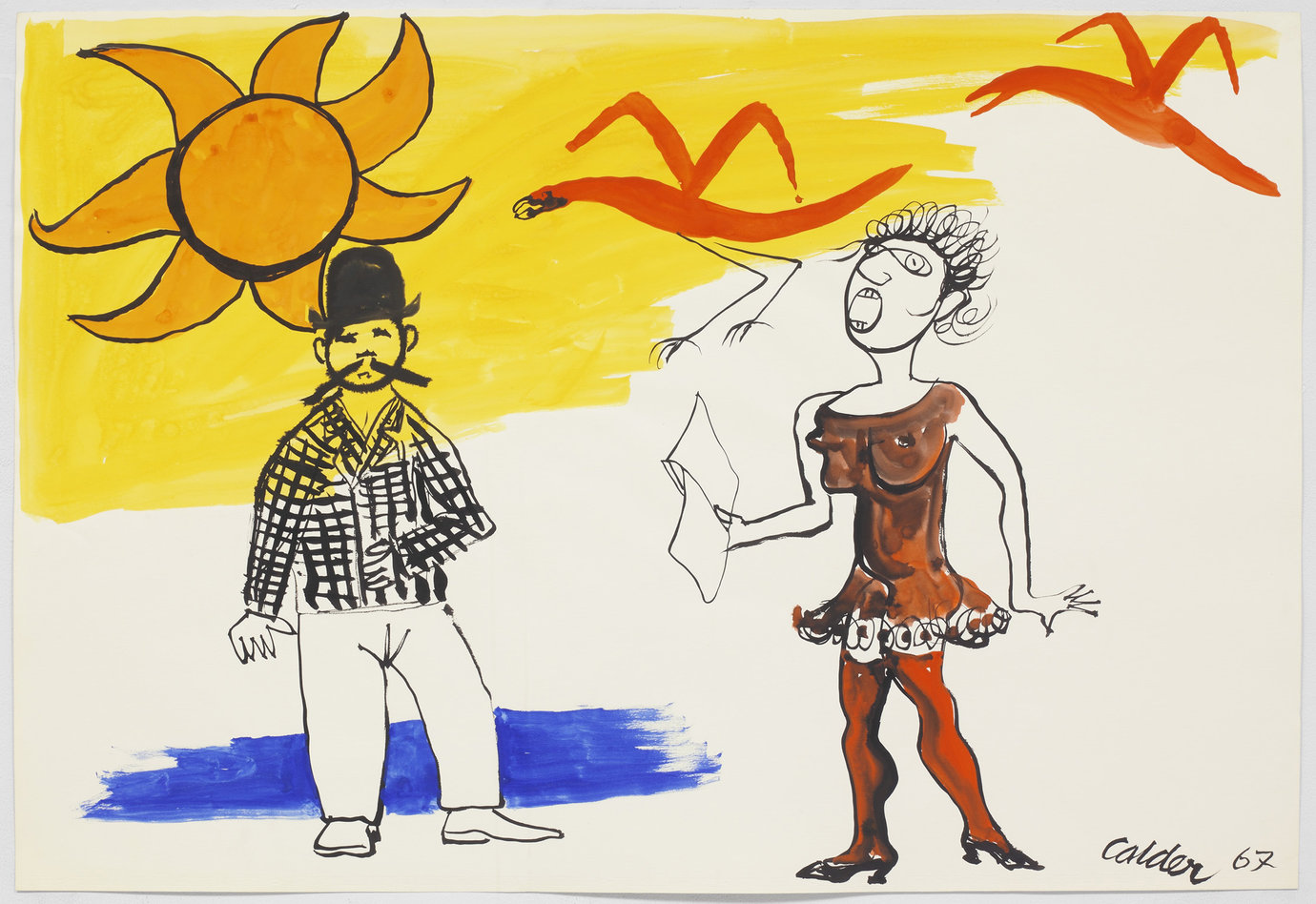 ", 1967. gouache and ink on paper, 29-1/2"" x 43-1/4"" (74.9 cm x 109.9 cm)."