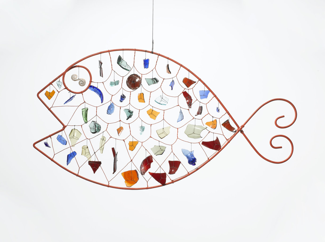 ", 1955. Glass and wire, 23"" x 42-1/2"" (58.4 cm x 108 cm)."