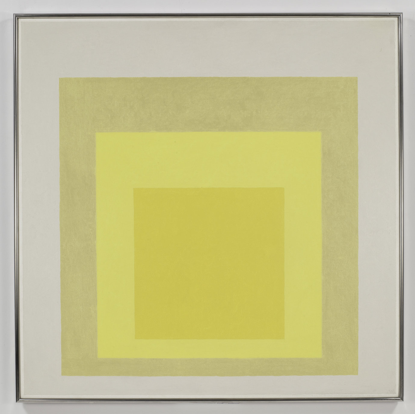 ", 1963. oil on masonite, 40 x 40""  (101.6 x 101.6 cm)."