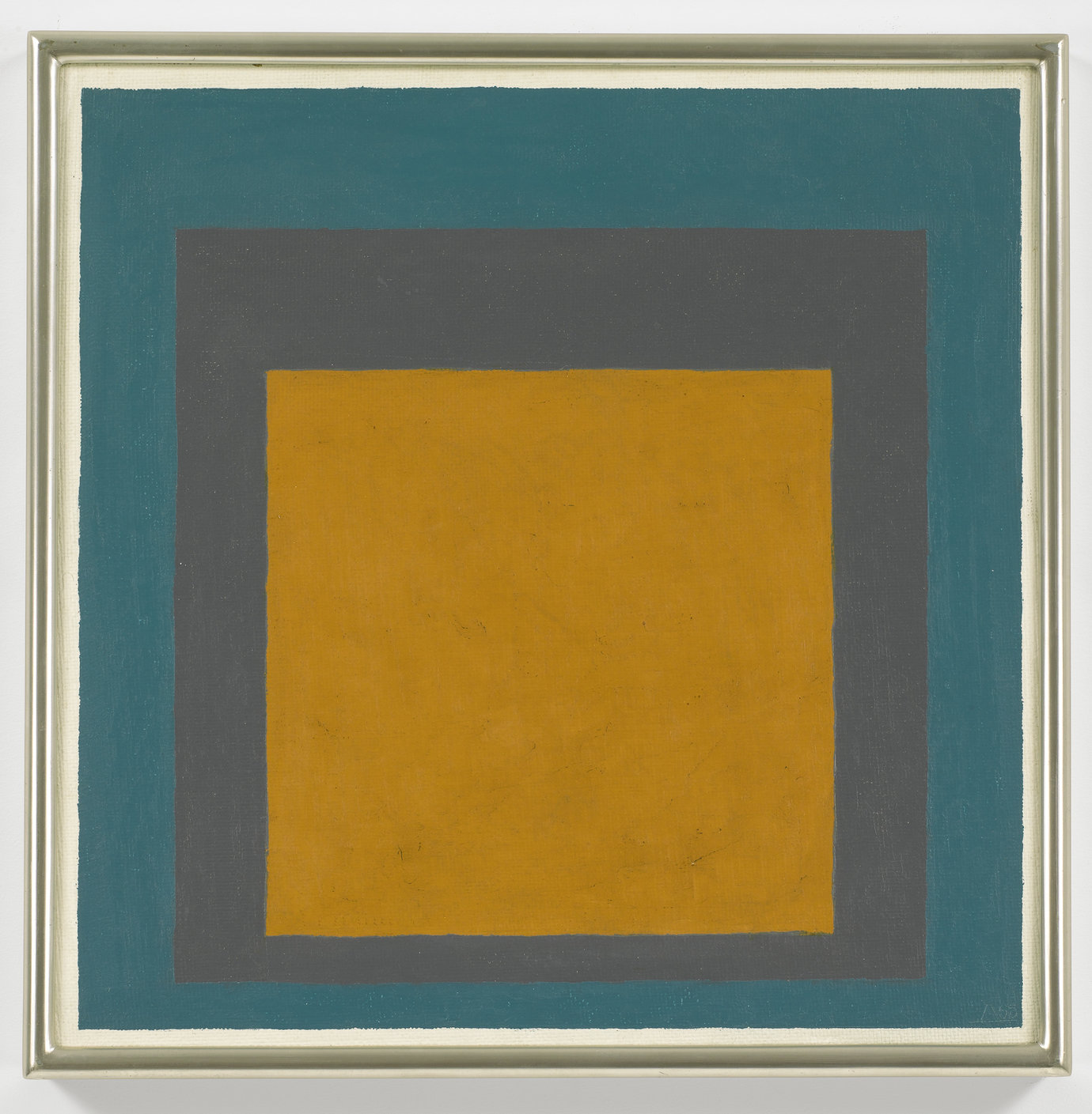 ", 1965. oil on masonite, 16"" x 16"" (40.6 cm x 40.6 cm)."