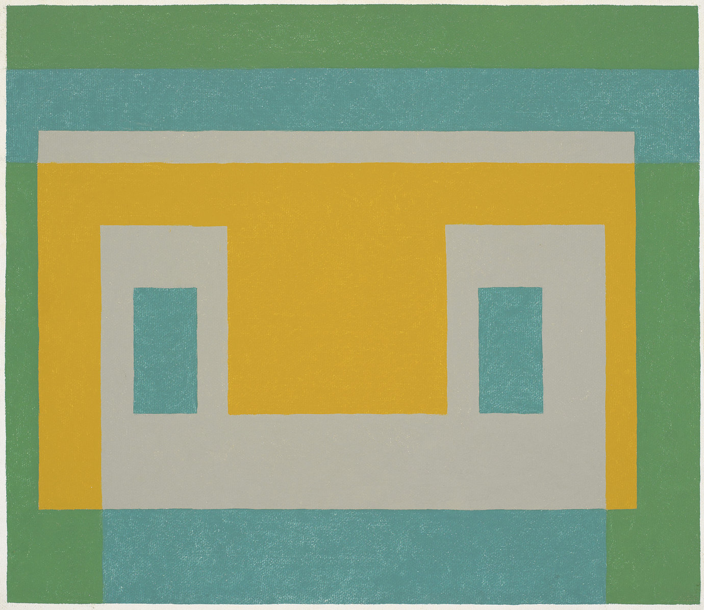 ", 1959. oil on masonite, 23"" x 27"" (58.4 cm x 68.6 cm)."