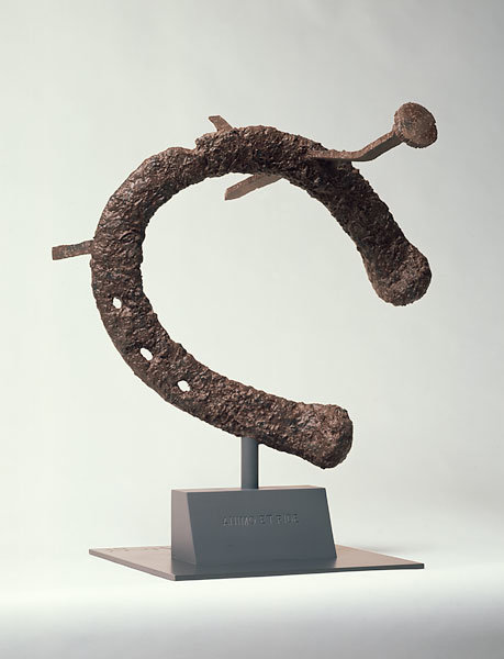 ", 1990. Steel and concrete painted with latex, 31"" x 28"" x 22"" (78.7 cm x 71.1 cm x 55.9 cm)."