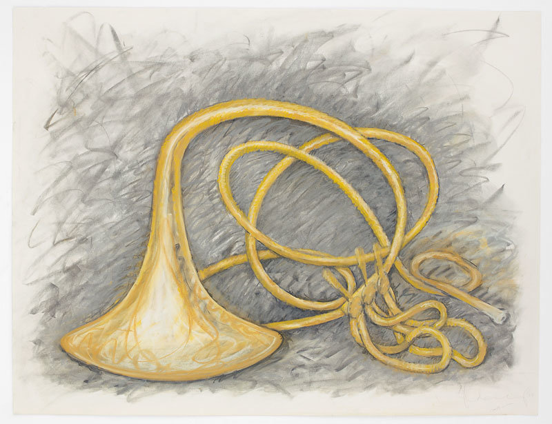 ", 2001. charcoal and pastel on paper, 37"" x 48"" (94 cm x 121.9 cm)."