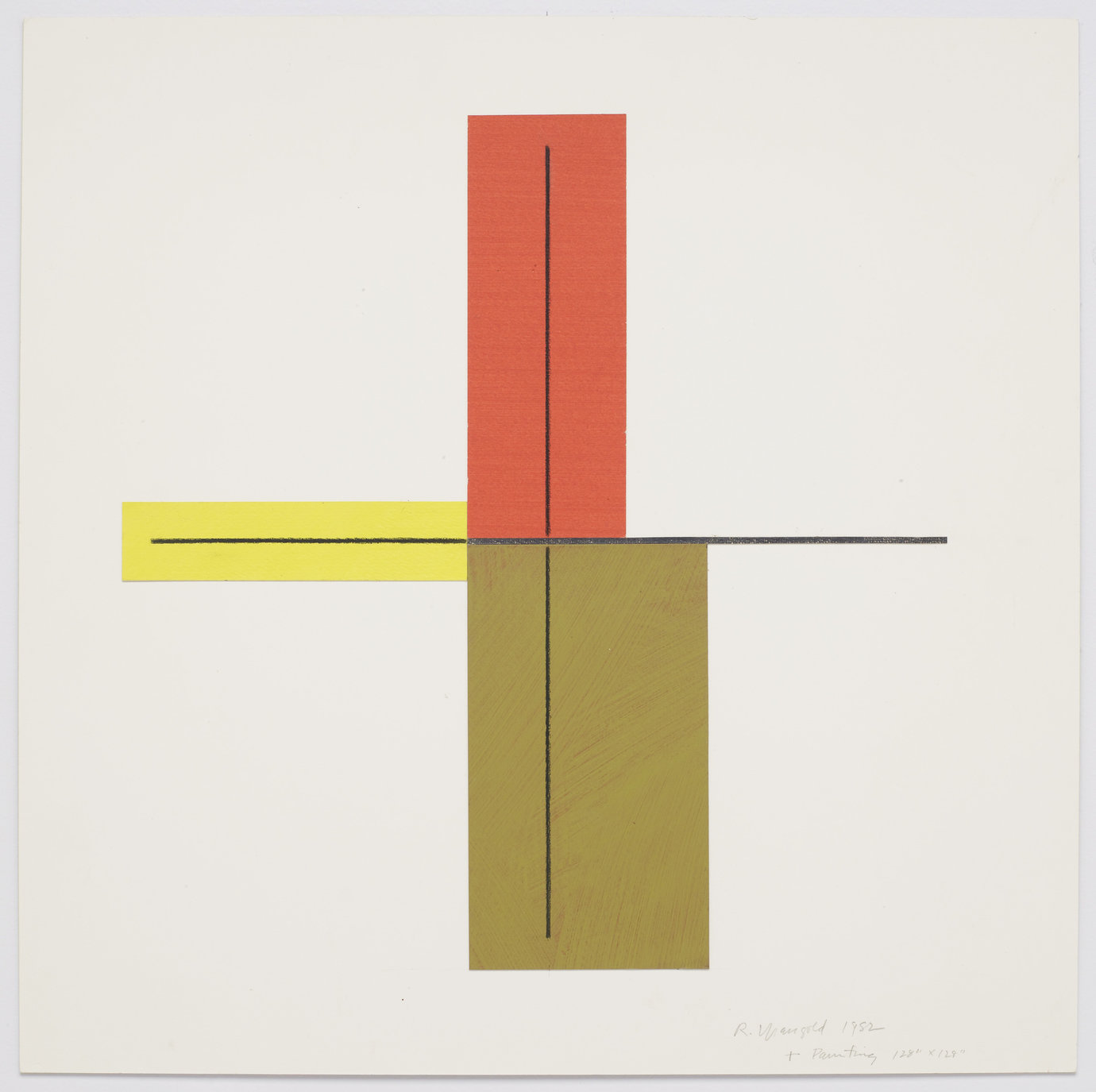 ", 1982. Acrylic and pencil on paper mounted on board, 20"" x 20"" (50.8 cm x 50.8 cm)."