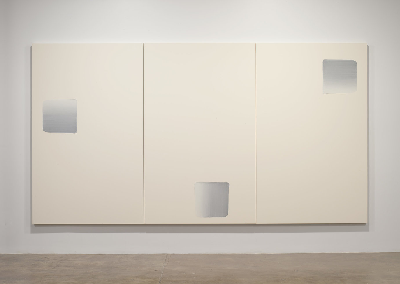 ", 2007. Oil on canvas, 7' 5-3/8"" x 14' 9"" (227 cm x 449.6 cm), overall installed7' 5-3/8"" x 4' 11"" (227 cm x 149.9 cm), 3 panels, each."