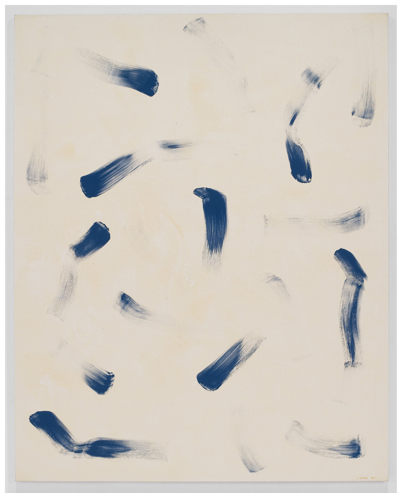 ", 1981. glue and stone pigment on canvas, 89-3/8"" x 71-1/2"" (227 cm x 181.7 cm)."