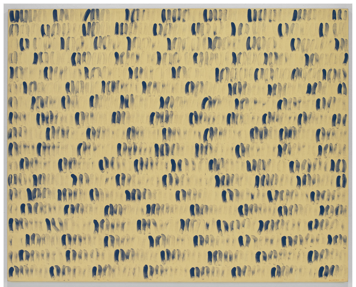 ", 1980. glue and stone pigment on canvas, 71-1/2"" x 89-3/8"" (181.7 cm x 227 cm)."