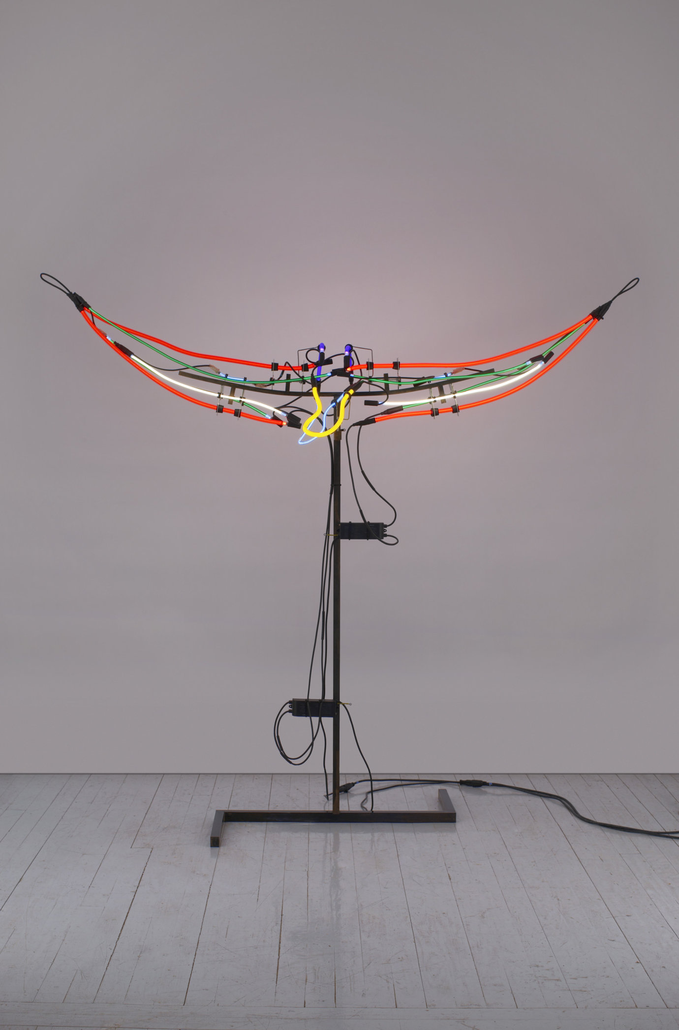 ", 2007. Steel, neon, paint, aluminum, neoprene, rubber, and transformer, 82"" x 90"" x 28"" (208.3 cm x 228.6 cm x 71.1 cm)."