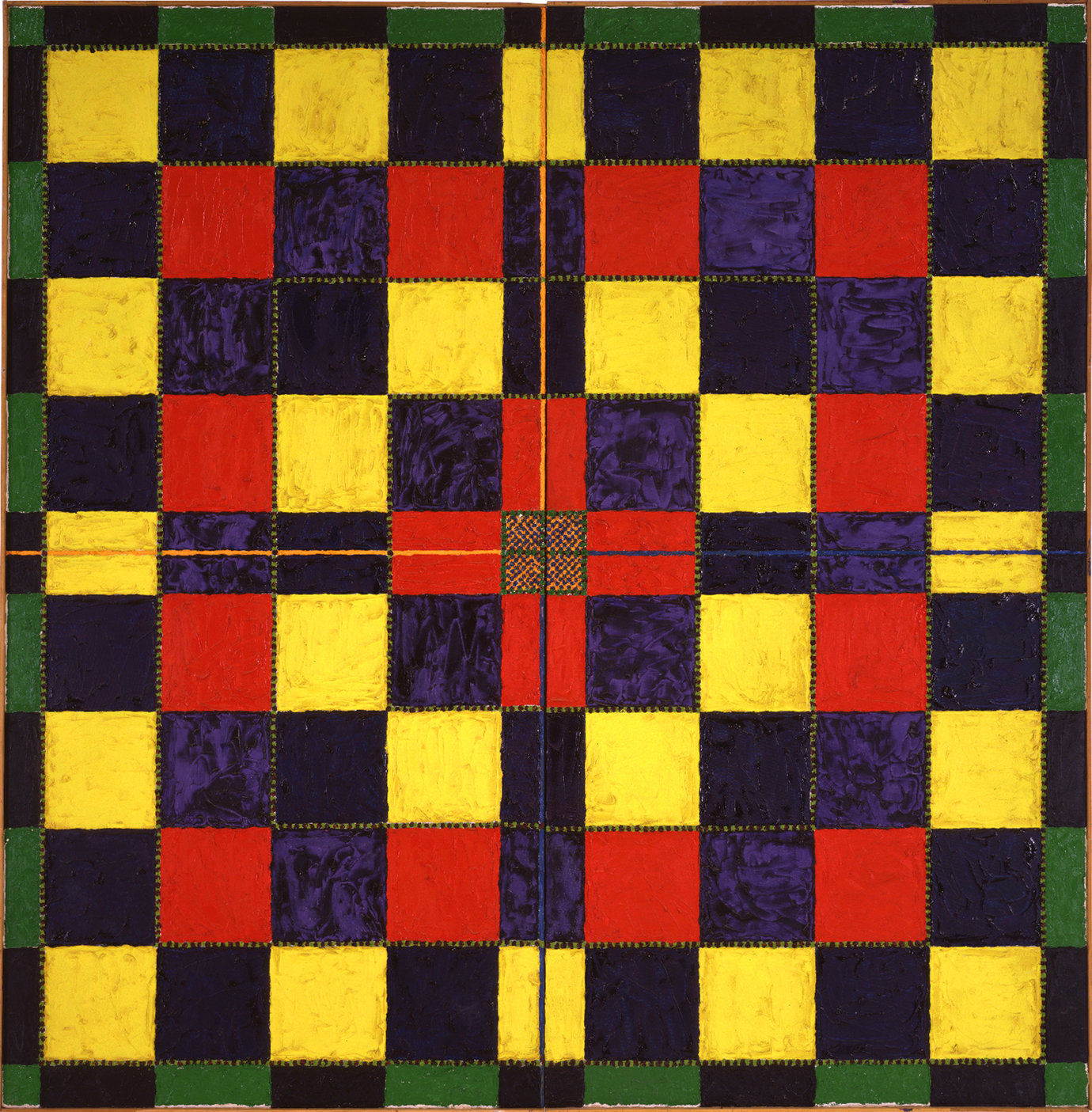", 1968. Oil on linen, 70-1/2 x 70-1/2"" (179.1 x 179.1 cm)."