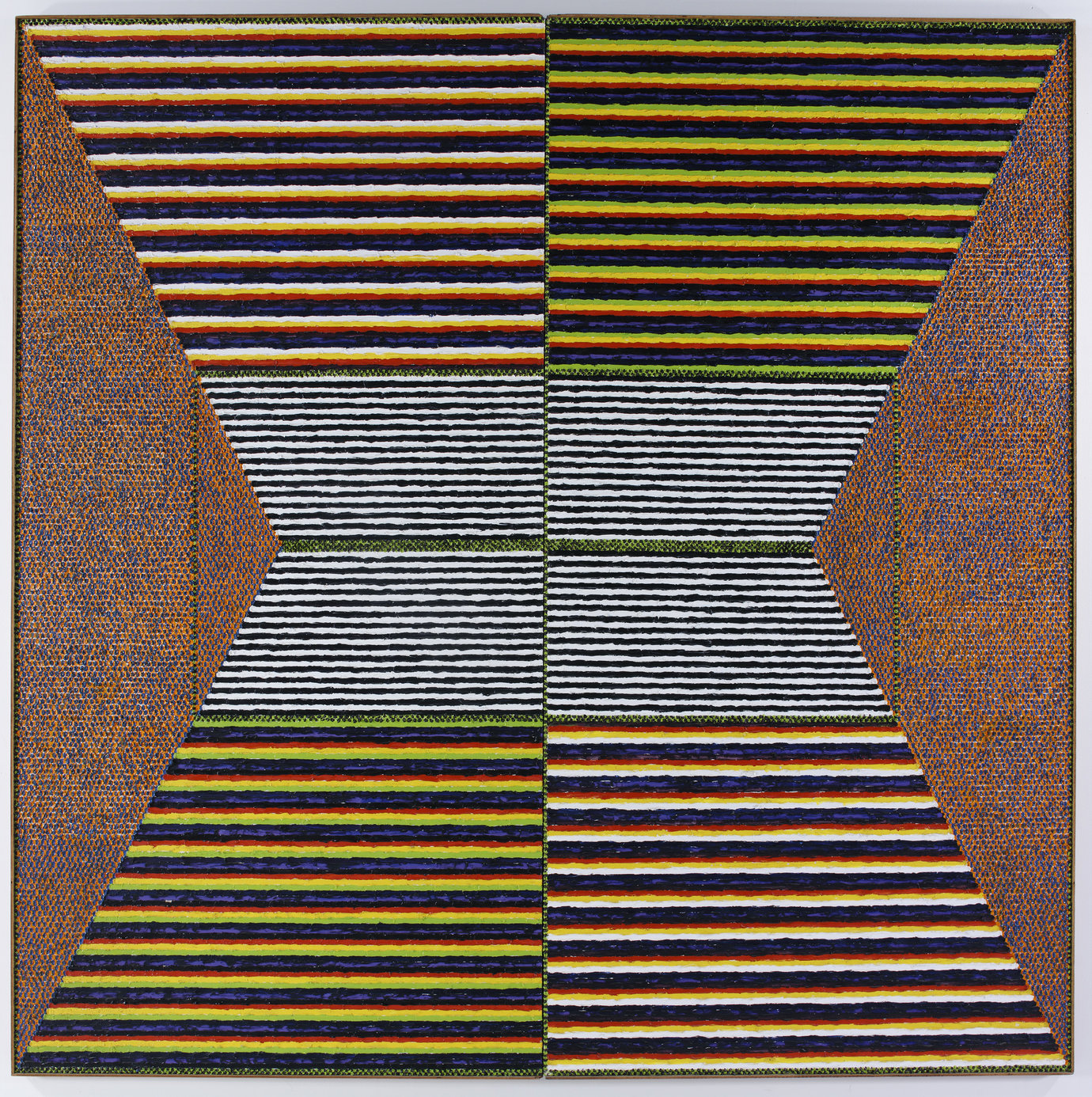", 1967. Oil on canvas, 8&apos; 1"" x 8&apos; 1"" (246.4 cm x 246.4 cm)."