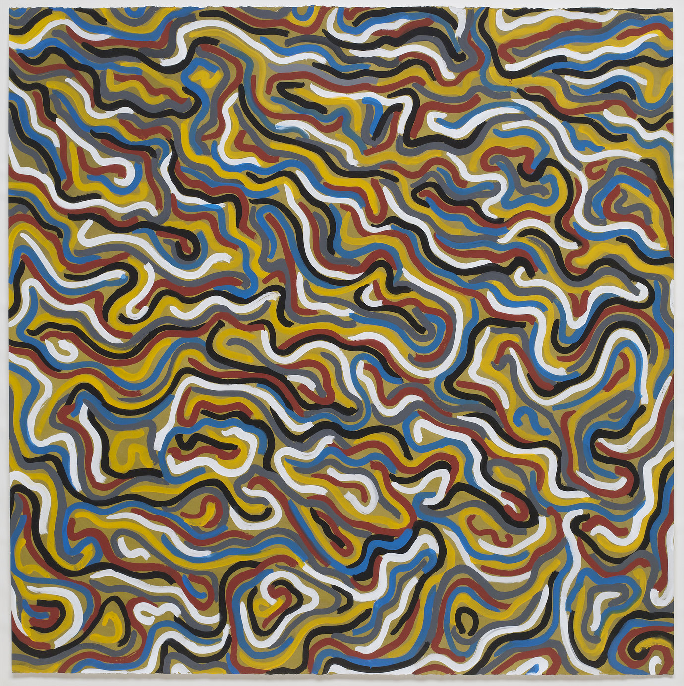 ", 1997. Gouache on paper, 60-5/8"" x 60-3/8"" (154 cm x 153.4 cm)."