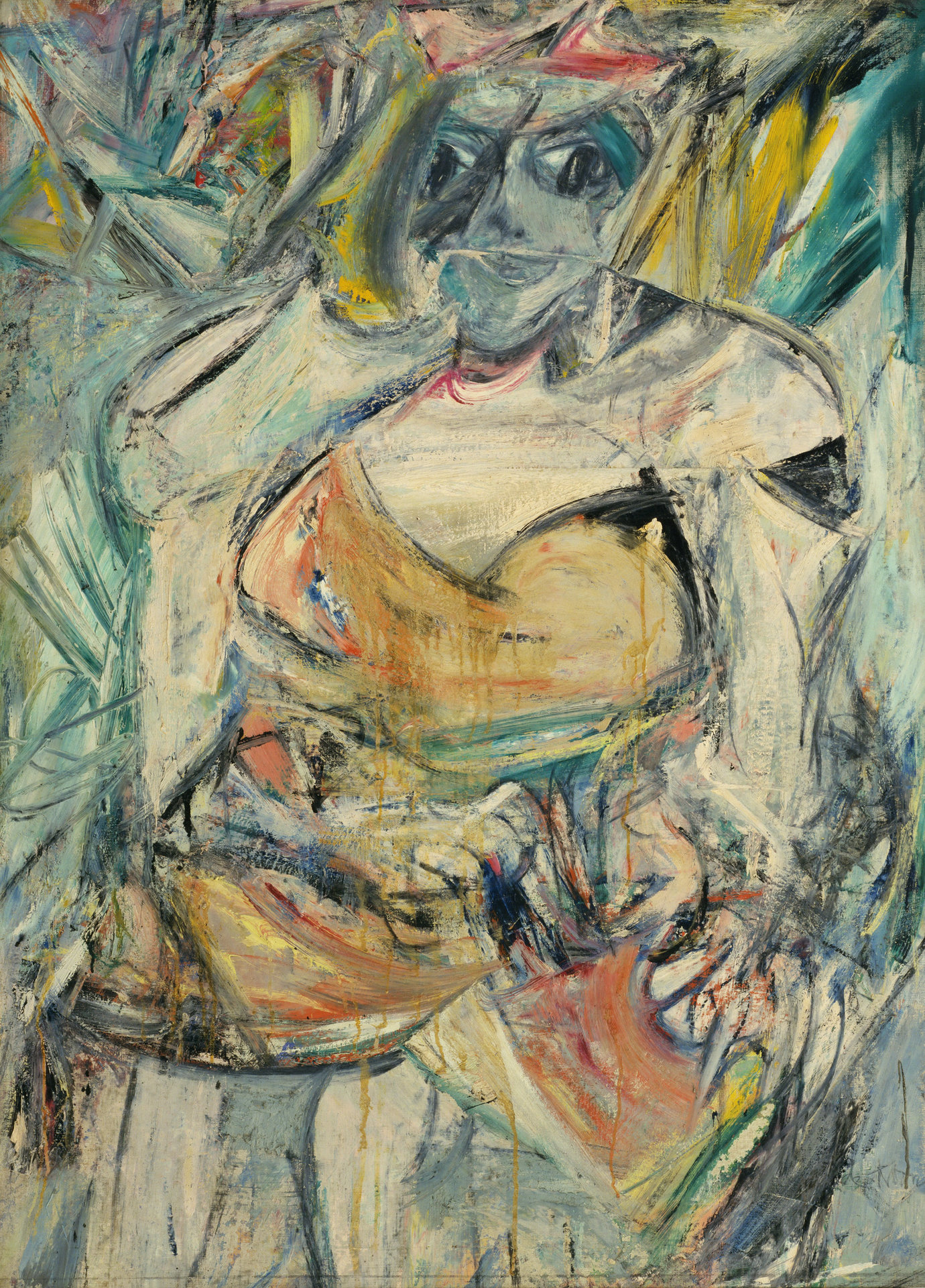 ", 1952. Oil on canvas, 59"" x 43"" (149.9 cm x 109.2 cm)."