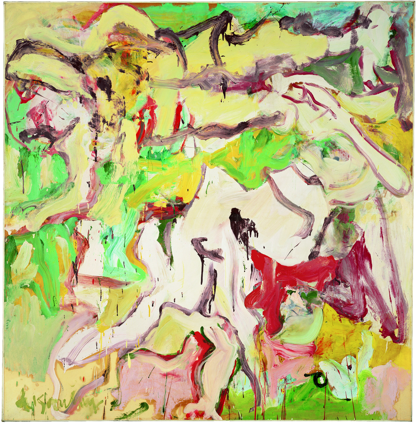 ", 1969. Oil on paper on canvas, 72-1/2"" x 70-1/4"" (184.2 cm x 178.4 cm)."