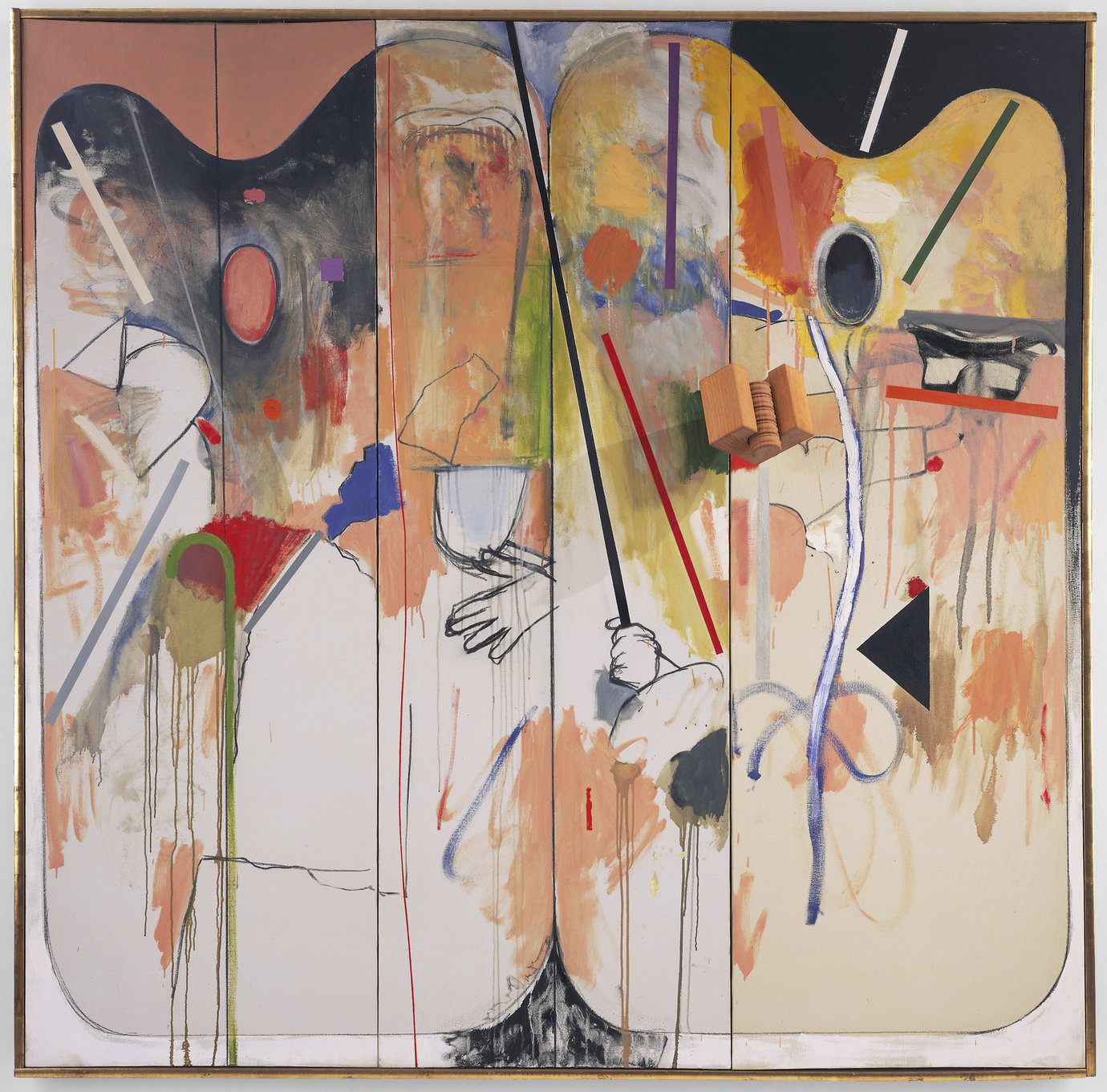 ", 1963. Oil on canvas and collage, 71-7/8"" x 72-3/8"" (182.6 cm x 183.8 cm)."