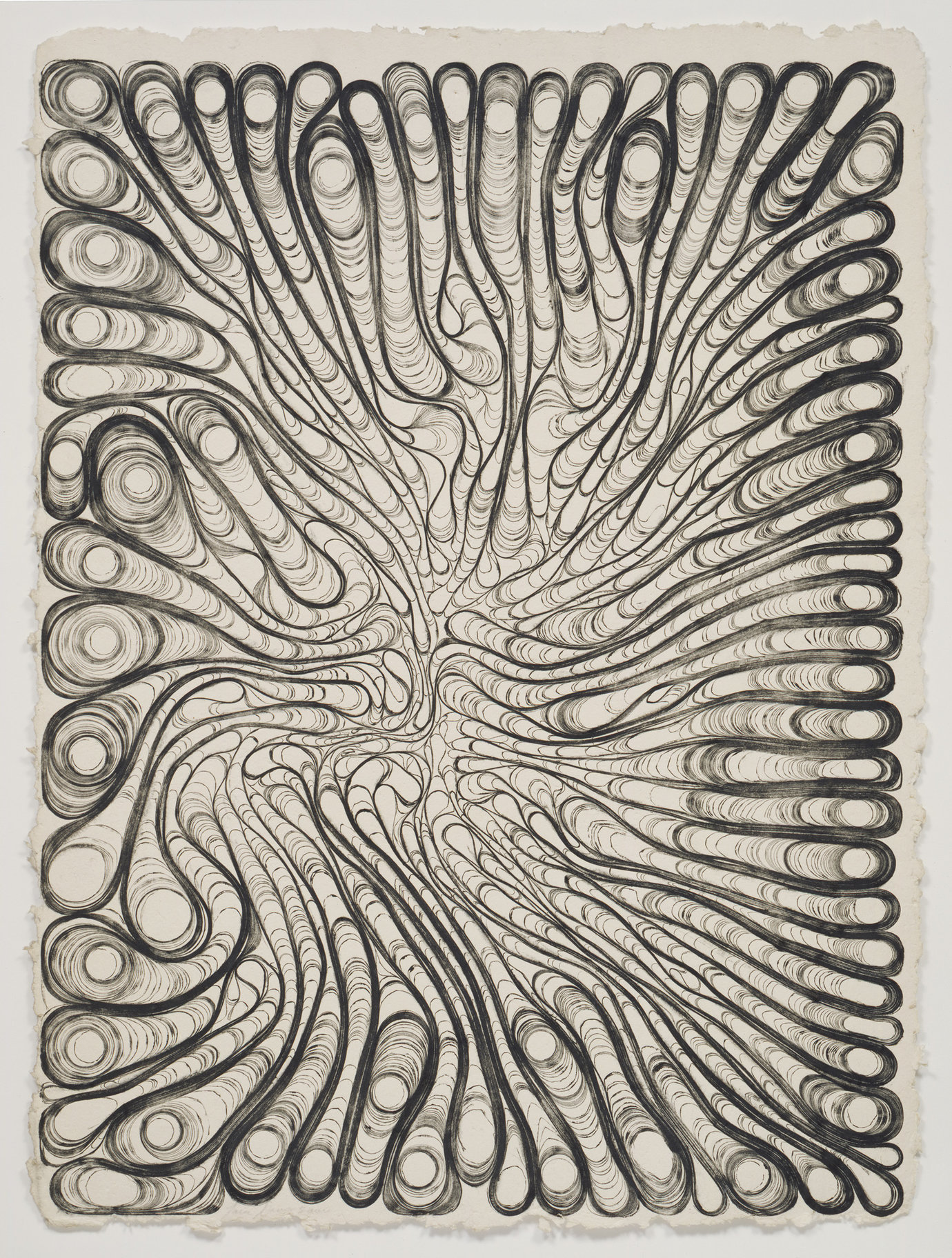 ", 2000. etching ink on Twin Rocker handmade paper, 34-1/2"" x 47"" (87.6 cm x 119.4 cm)."