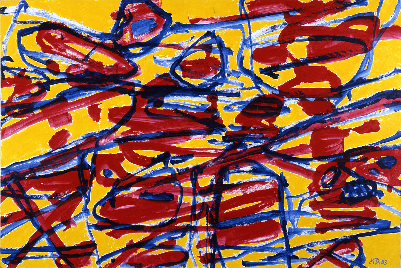 ", June 22, 1983. acrylic on canvas-backed paper, 26-3/8"" x 39-3/8"" (67 cm x 100 cm)."