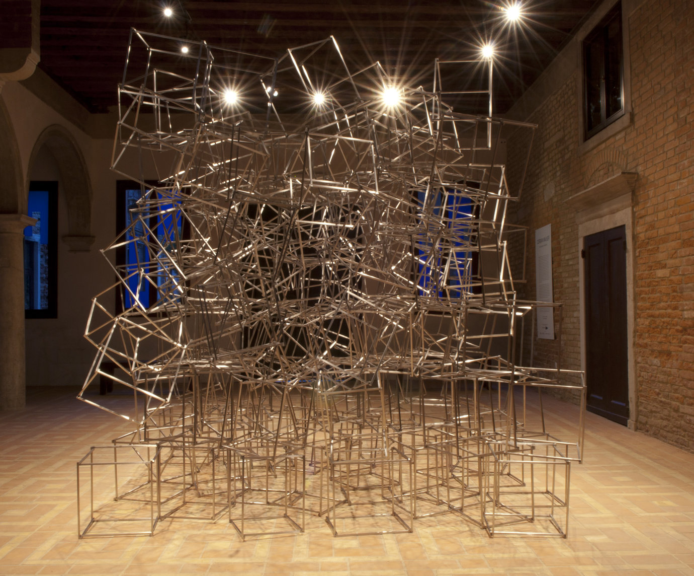 ", 2011. 176 stainless steel frames, 16"" x 14"" x 14"" (40.6 cm x 35.6 cm x 35.6 cm), eachinstallation dimensions variable."