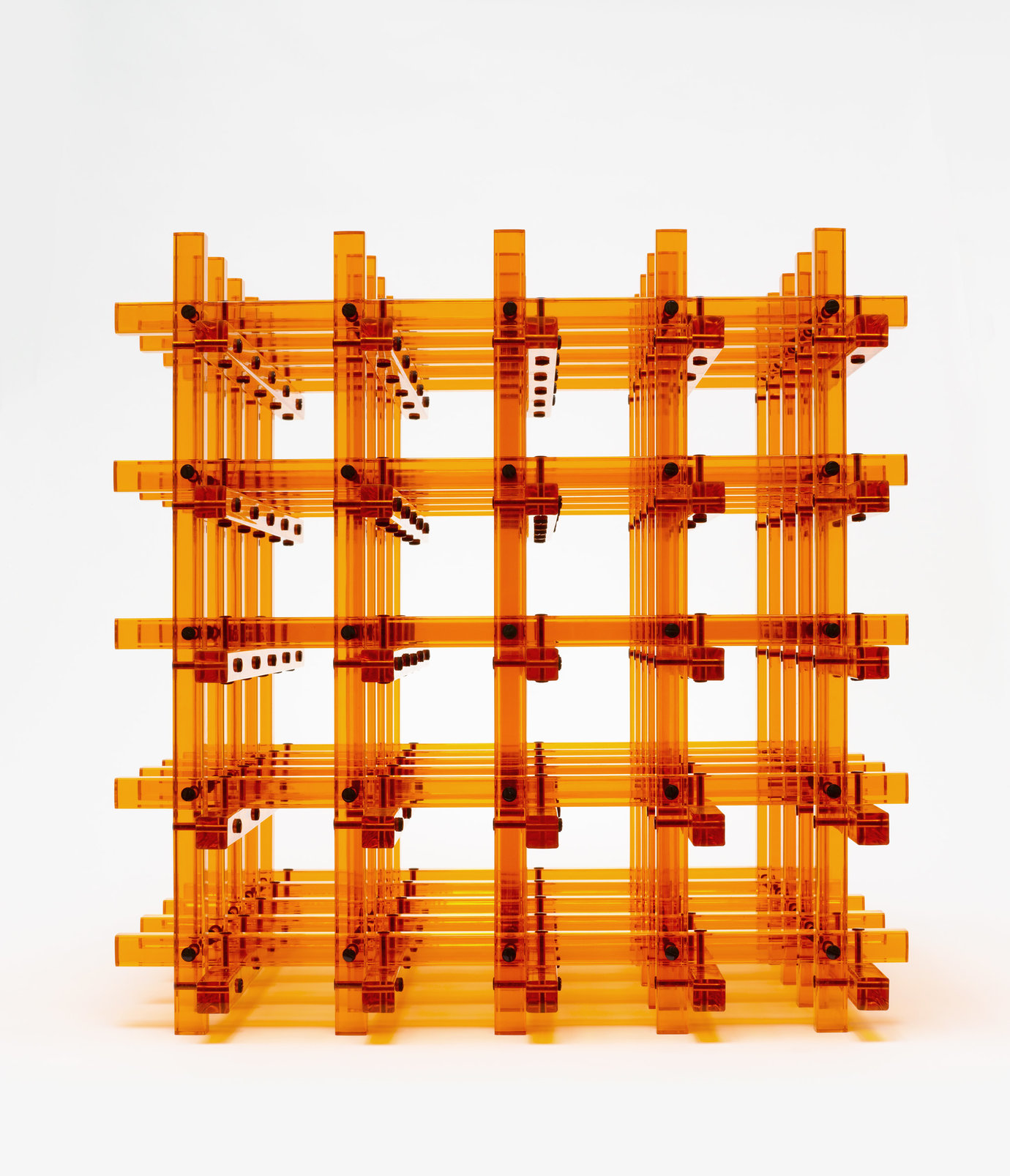 ", 2012. acrylic orange rods, 25-5/16"" x 25-5/16"" x 25-5/16"" (64.3 cm x 64.3 cm x 64.3 cm)."