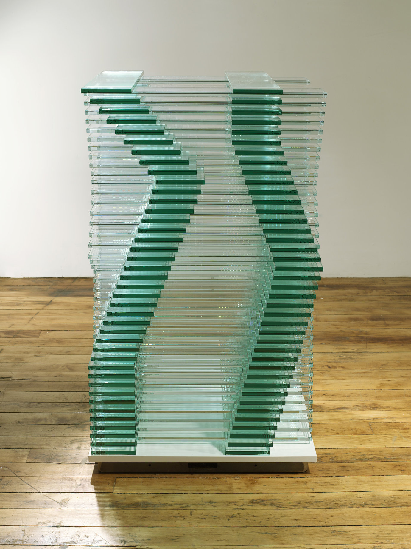 ", 2008. low iron glass and clear float glass, 38"" x 23-3/4"" x 23-3/4"" (96.5 cm x 60.3 cm x 60.3 cm)."