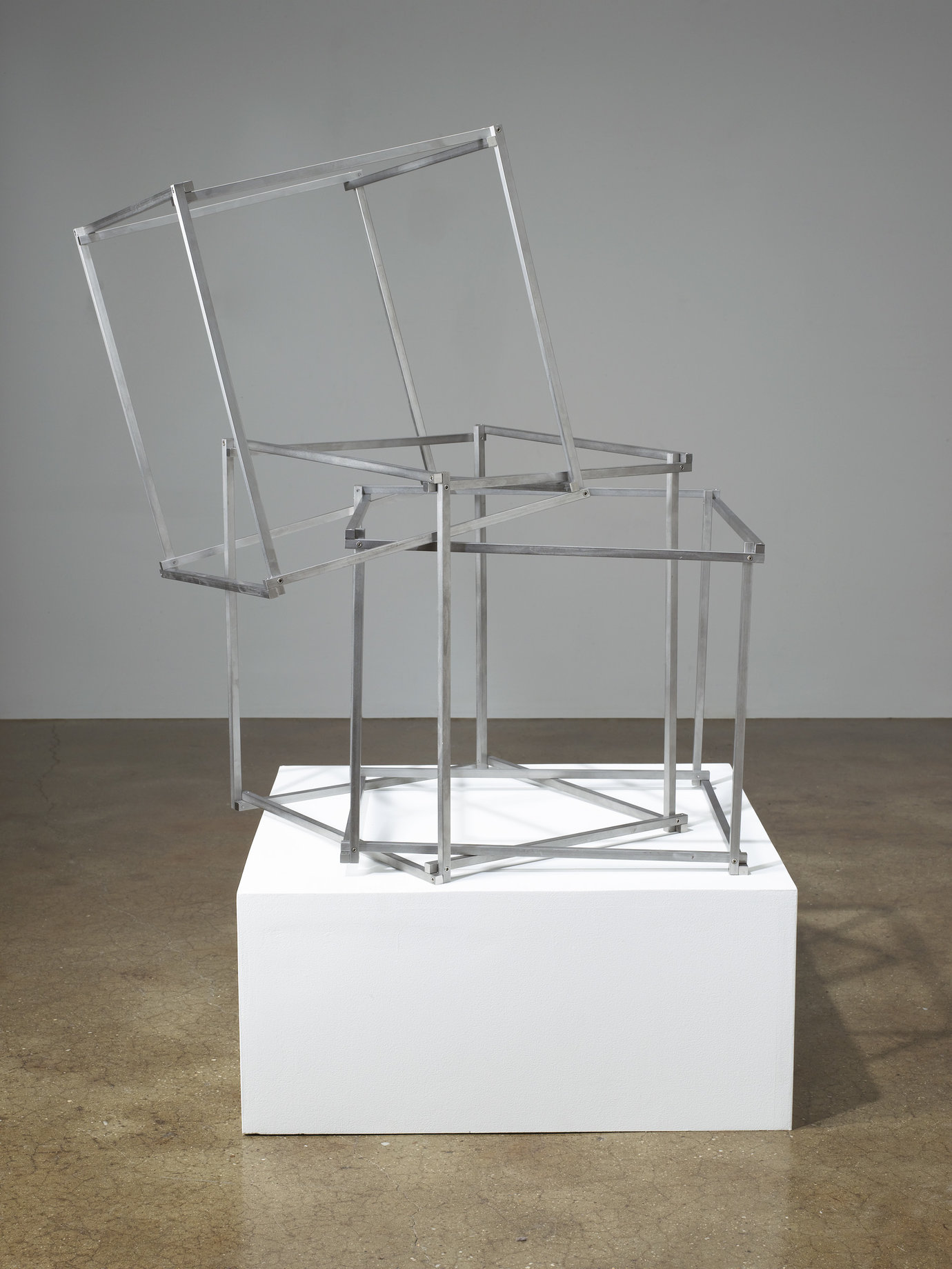 ", 2008. Stainless steel, overall installation dimensions variable16"" x 14"" x 14"" (40.6 cm x 35.6 cm x 35.6 cm), 3 frames, each."