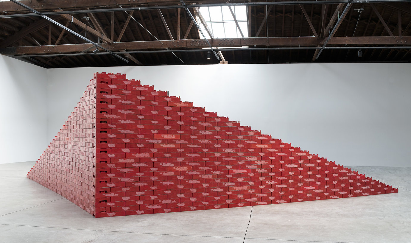 ", 2005. Plastic soda cases, 7&apos; 6"" x 29&apos; 6-3/8"" x 16&apos; 4-7/8"" (228.6 cm x 900.1 cm x 500.1 cm)."