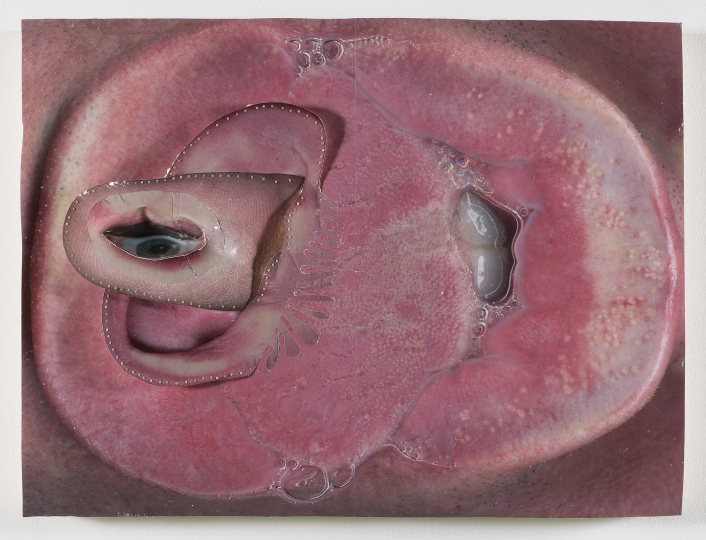 ", 2007. photo collage and urethane foam on panel, 19"" x 25"" (48.3 cm x 63.5 cm)."