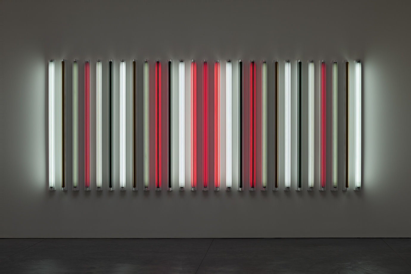 ", 2011. Light + shadow + reflection + color, 72"" x 15' x 4-5/8"" (182.9 cm x 457.2 cm x 11.7 cm)."