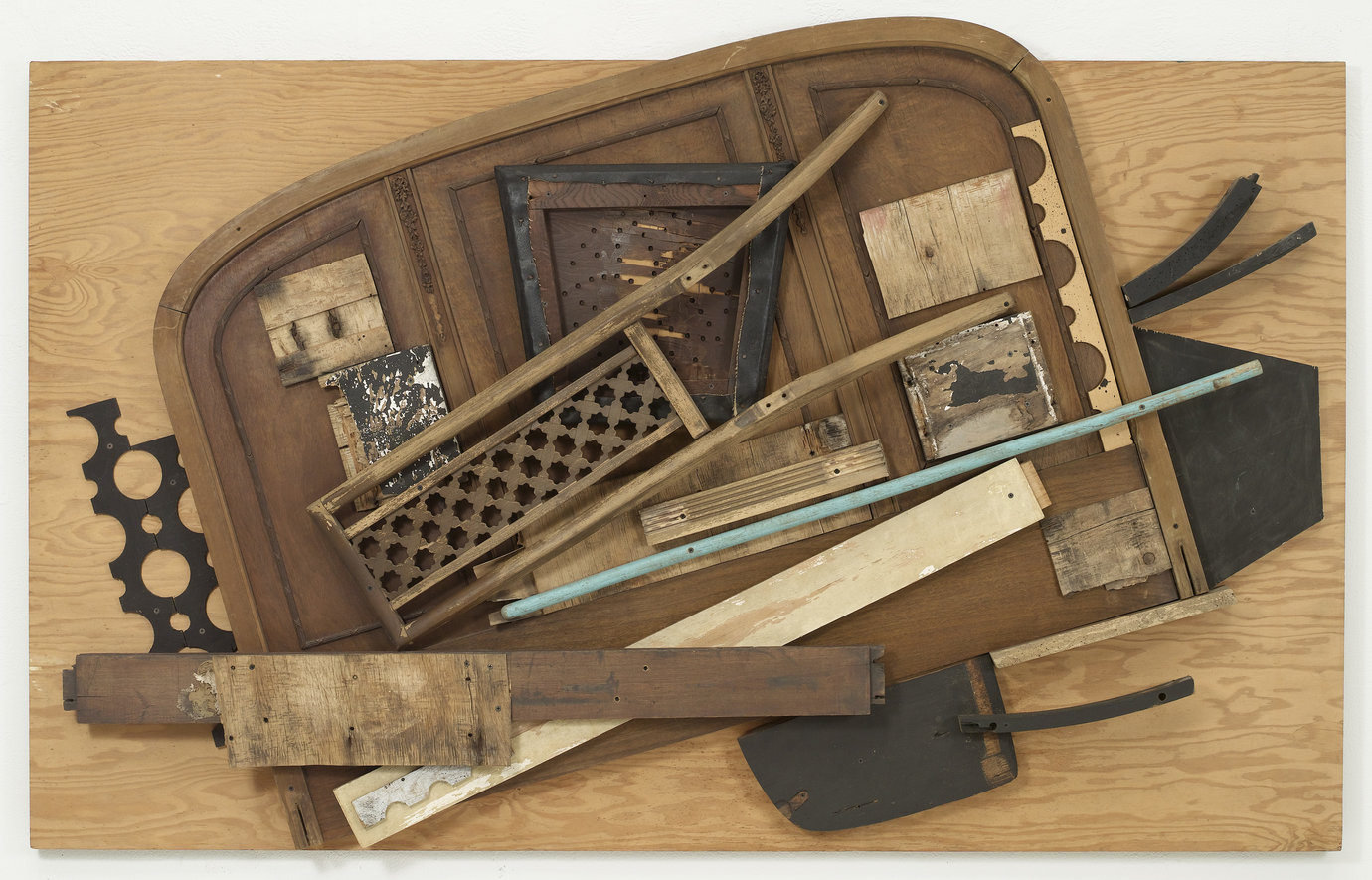", 1985. Paint, vinyl and wood on board, 51"" x 81-1/4"" x 7-1/2"" (129.5 cm x 203.8 cm x 19 cm)."