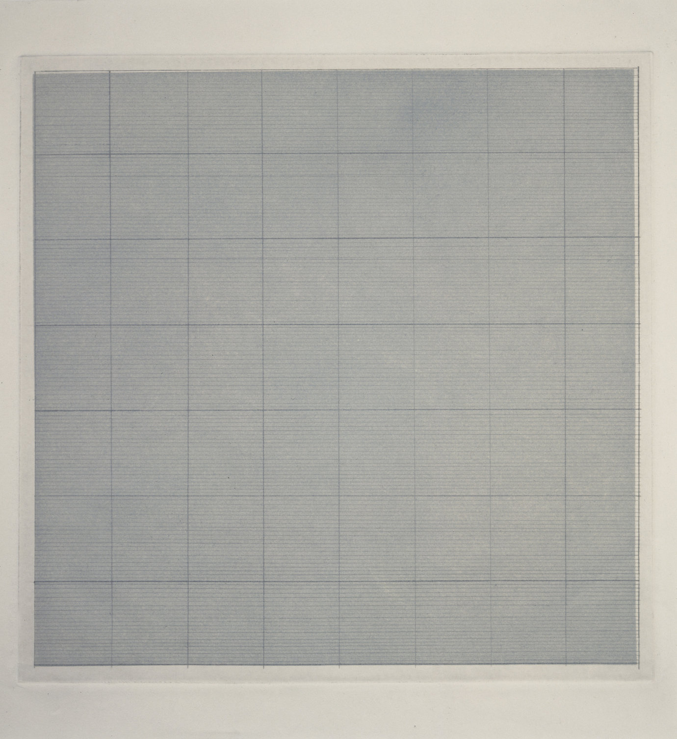 ", 1961. pencil on aquatint, 12-3/4"" x 12-3/4"" (32.4 cm x 32.4 cm)."
