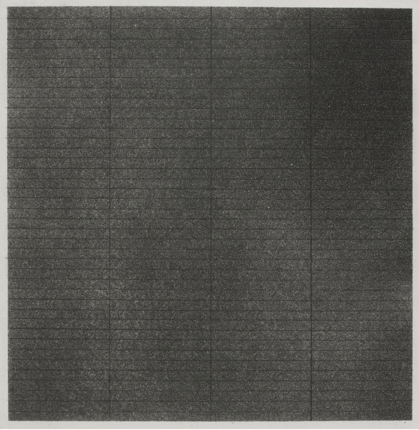", 1962. graphite on aquatint proof, 12-1/2 x 12-3/4"" (31.8 x 32.4 cm)."