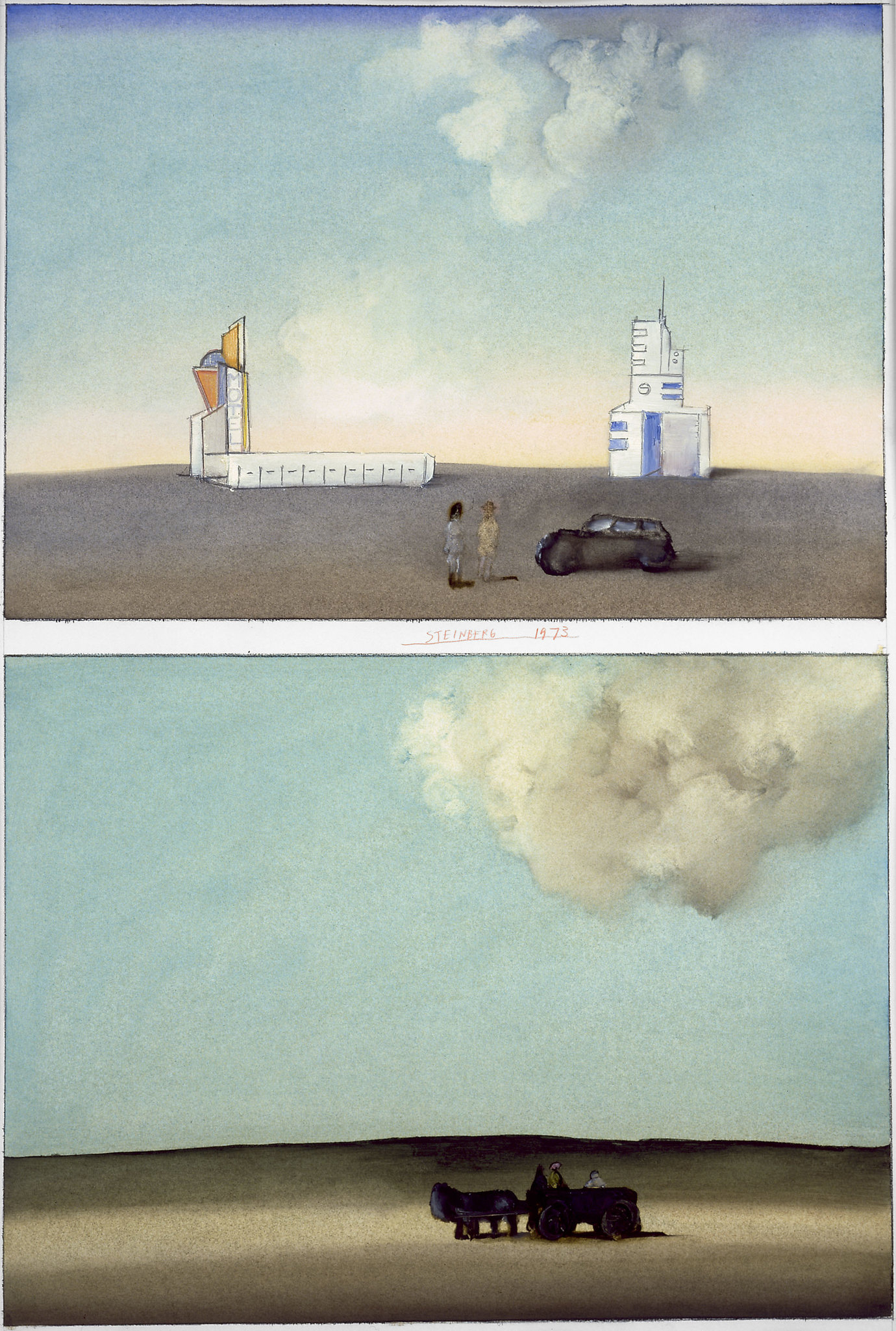 ", 1973. oil on paper, 28-1/4 x 19-3/4"" (64.1 x 50.2 cm)."